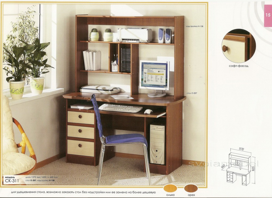 Столы компьютерные, фото каталоги